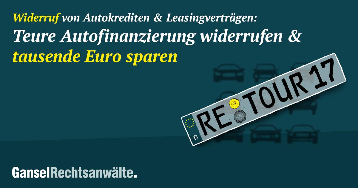 Widerruf Autokredit Kostenfreie Prüfung Erstberatung